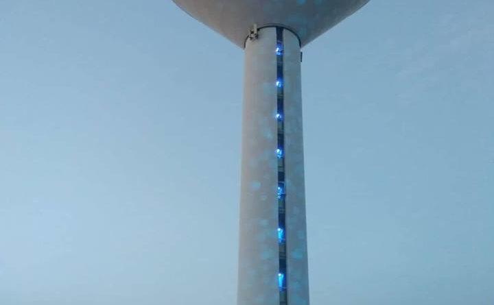 Spettacolo di luci alla centrale idrica di Reggio Est