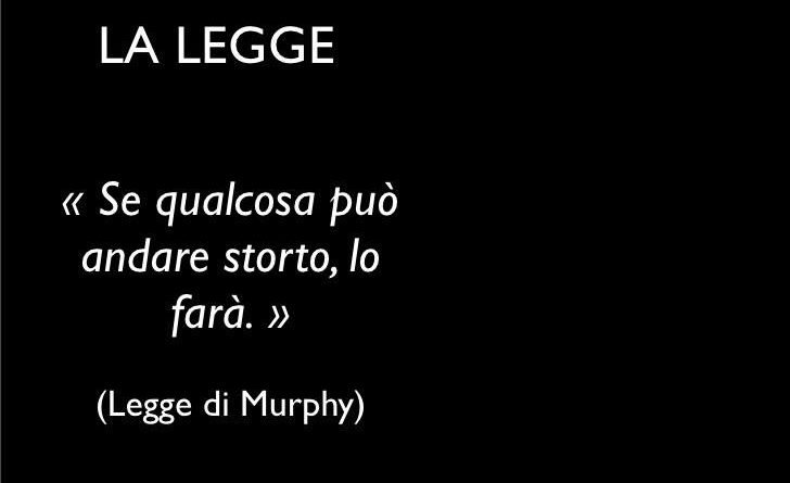 La legge di Murphy e Sanremo